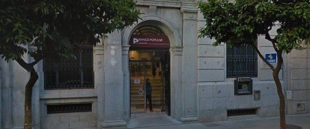 Concentración de trabajadores del Banco Popular en Jerez