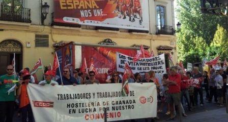 UGT firma el Convenio de Hostelería de Granada, tras integrarse en su articulado el acuerdo salarial del 2 de marzo