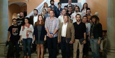 La plantilla de Arvato Sevilla ante la amenaza de cierre recaba apoyo municipal y pide mediación