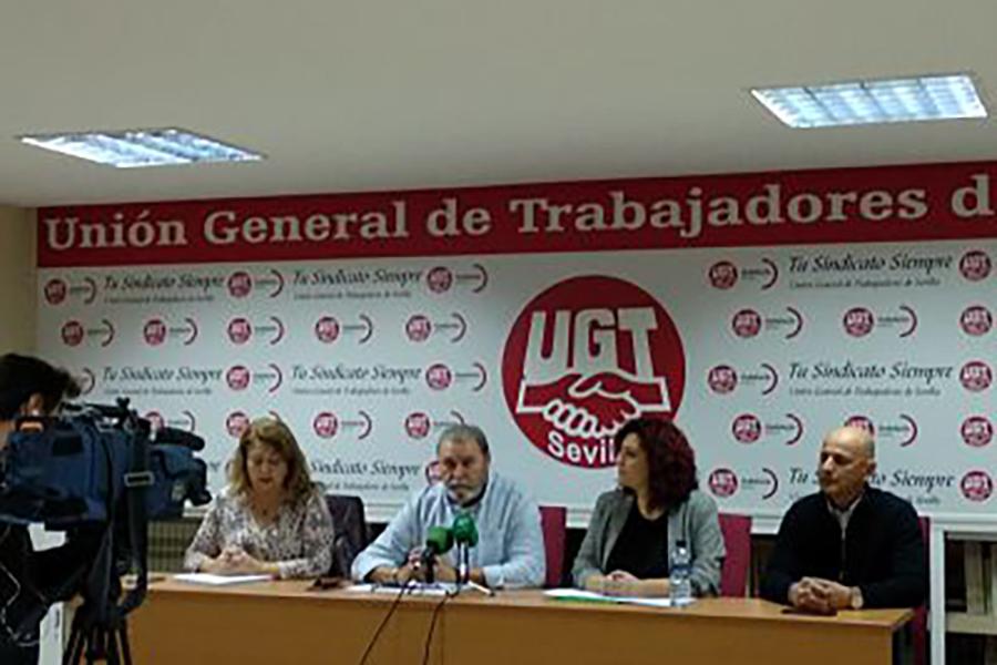 UGT Sevilla denuncia los problemas de movilidad y acceso que padecen los trabajadores del centro comercial Lagoh