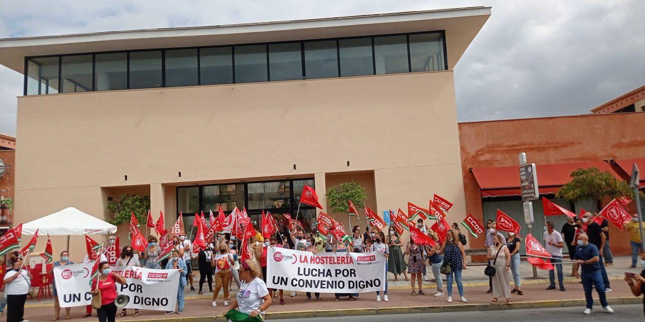 Nueva jornada de movilizaciones por el bloqueo del convenio de hostelería de Huelva