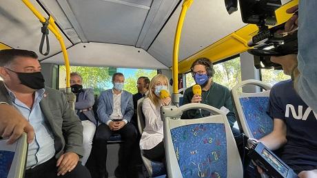 UGT participa en la inauguración del nuevo servicio de autobuses urbanos de Jaén